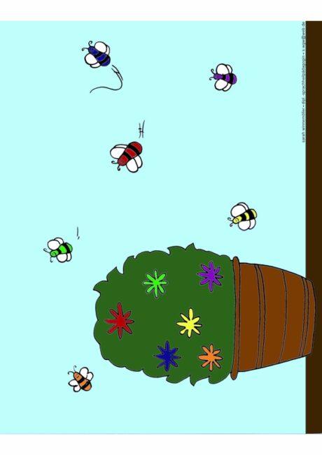 Ansaugspiel Blüten und Insekten