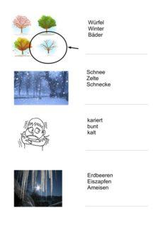 Aphasiematerial zum Thema Winter