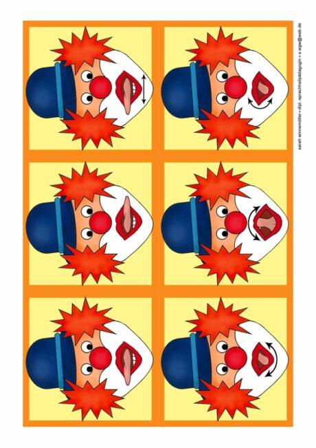 Mundmotorik Clowns