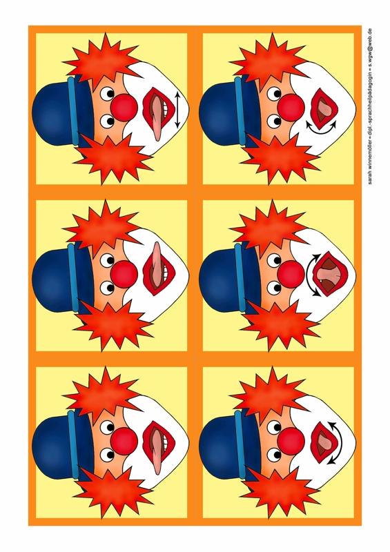 Mundmotorik Clowns Therapiematerial F 252 R Die Logop 228 Die