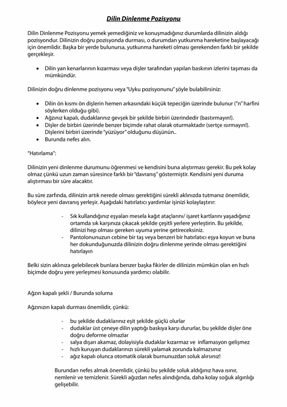 Kindgerechte Information zur Zungenruhelage auf Türkisch