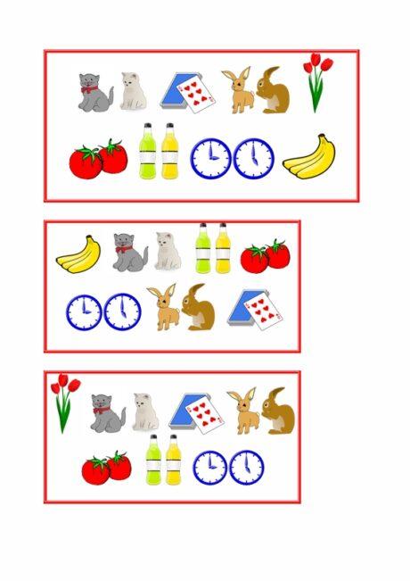 Gruselino-Kartensatz für Plural auf -n