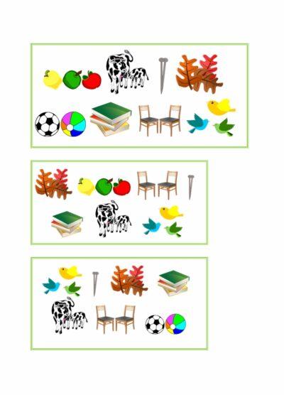 Gruselino-Kartensatz für Plural mit Umlaut