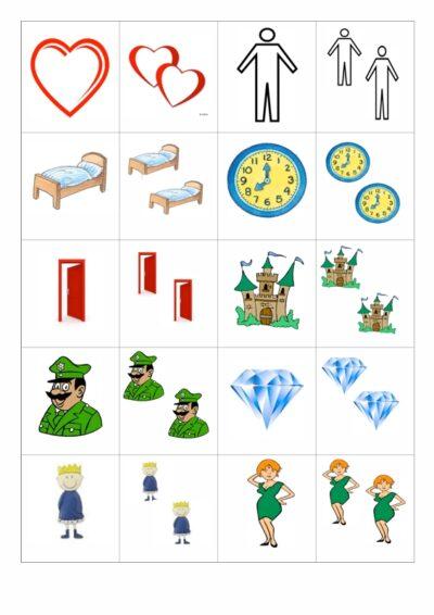 Bildkarten Plural auf -en