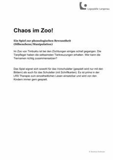 Spiel Chaos im Zoo!