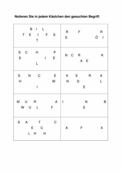 Anagramme zur Wortfindung