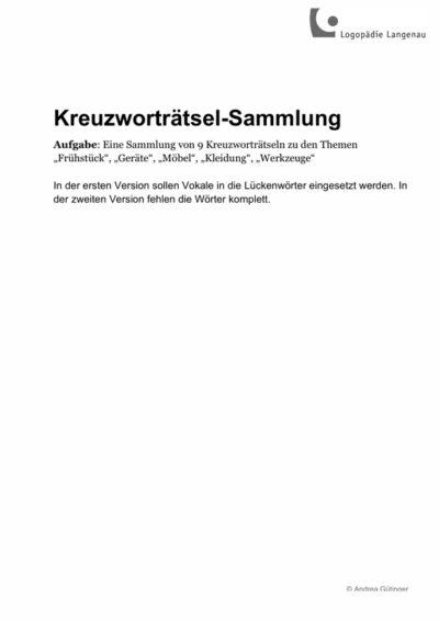 Kreuzworträtsel-Sammlung