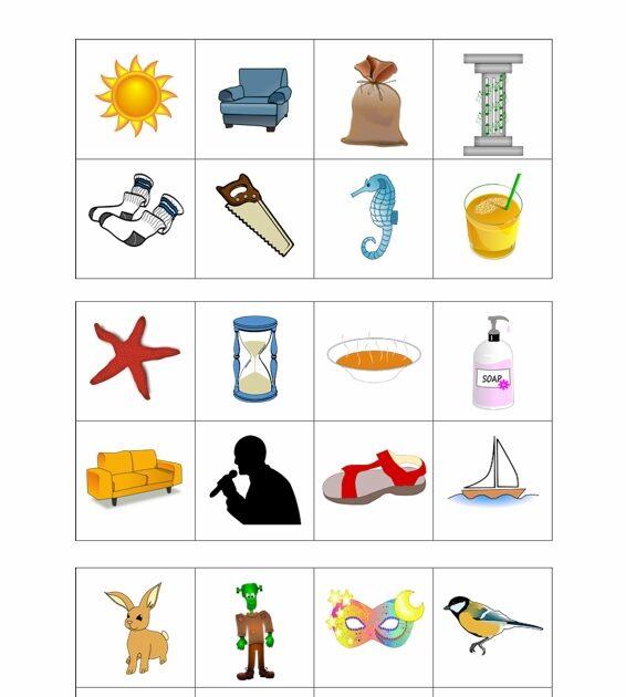Arbeitsblatt Vorschule was ist ein anlaut zeichnung : Lotto bei Sigmatismus - Dyslalie - madoo.net