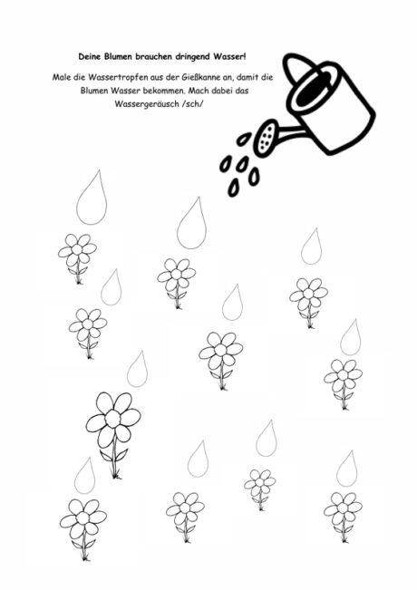 Blumen gießen bei Schetismus