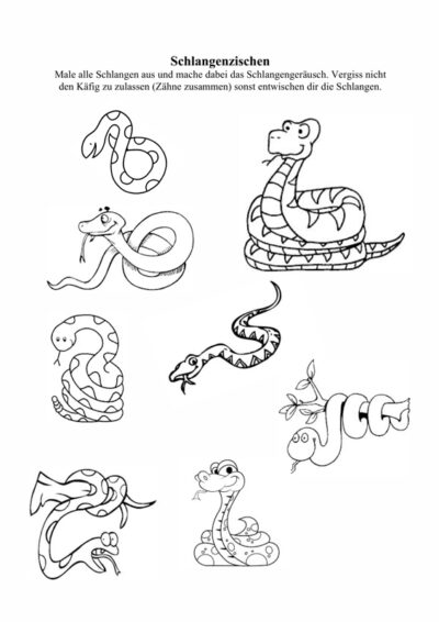 Schlangenzischen bei Sigmatismus