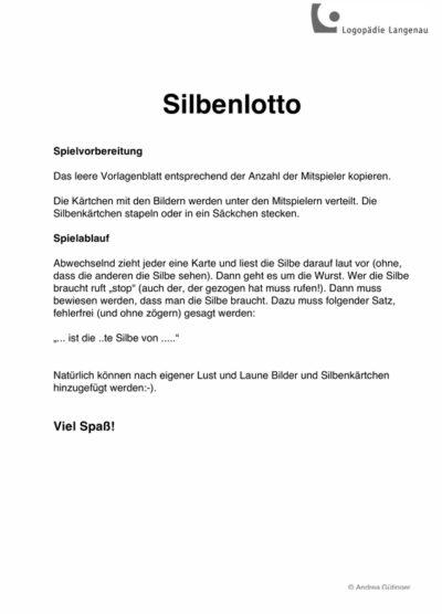 LRS-Spiel Silbenlotto