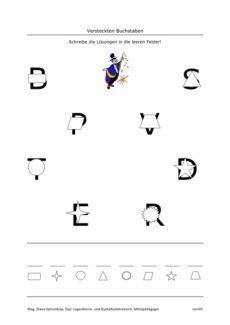 Versteckten Buchstaben