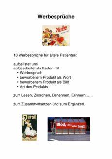 Arbeitsblatt Werbesprüche