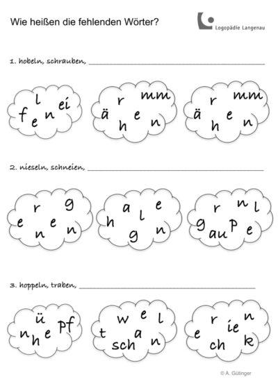 Anagramme – Verben
