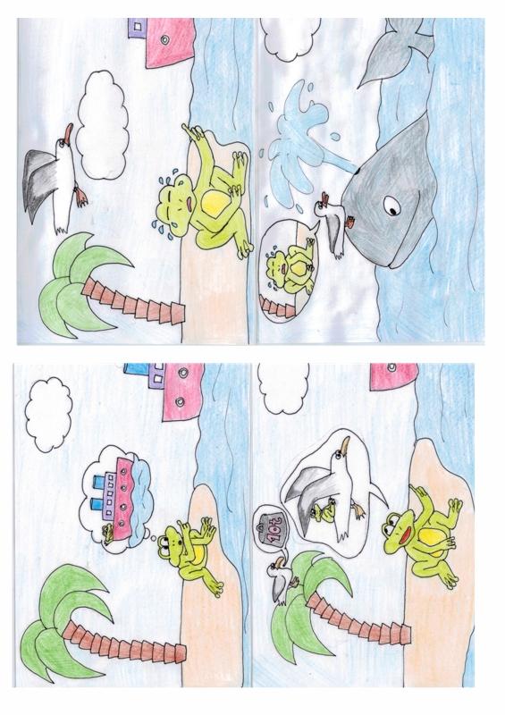 Bildergeschichte Frosch