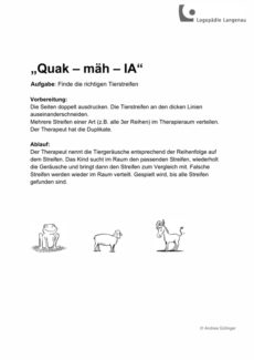 "Tierreihen ""Quak-mäh-IA"""