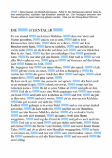 """Text """"Sterntaler"""" zum fraktionierten Sprechen"""