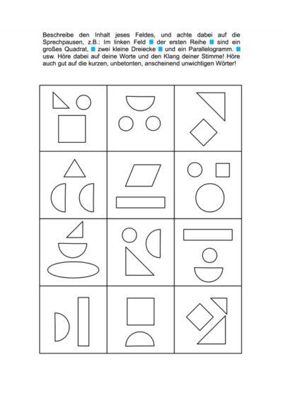 Felder und Figuren zum fraktionierten Sprechen