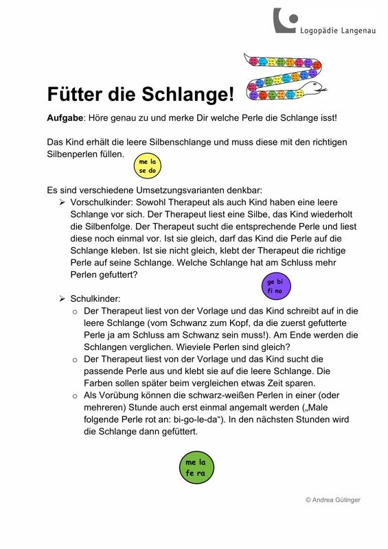 Sammlungen (Seite 3) mit AVWS-Spiel: Füttere die Schlange - SES ...