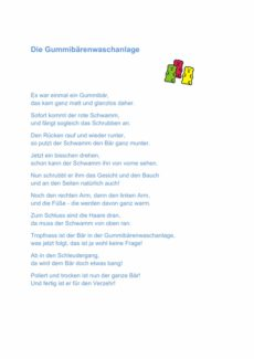 Gummibärchen Waschanlage – Reim