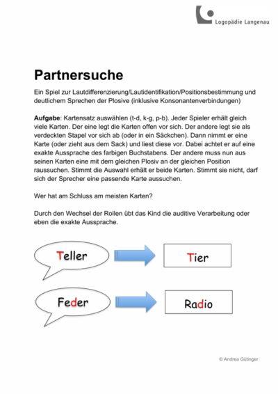 Spiel: Partnersuche
