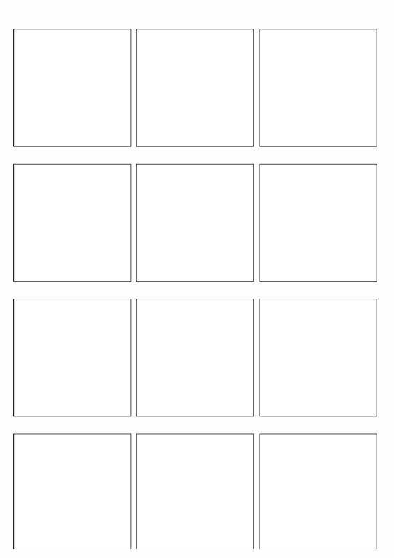 Vordruck: Quadrate zum Erstellen von Bildkarten - Diverses - madoo.net