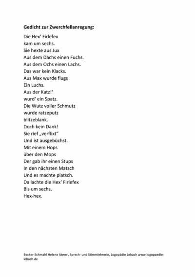 Gedicht zur Zwerchfellanregung