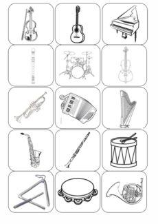 Bildkarten Instrumente