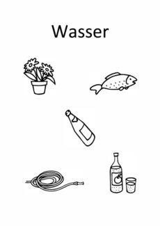 Arbeitsblätter zur Bildsemantik Getränke