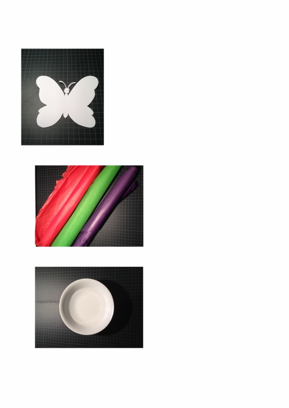 HOT: Schmetterling mit Seidenpapier