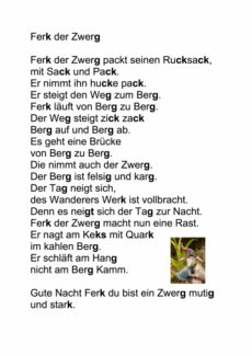 Gedicht: Ferk der Zwerg
