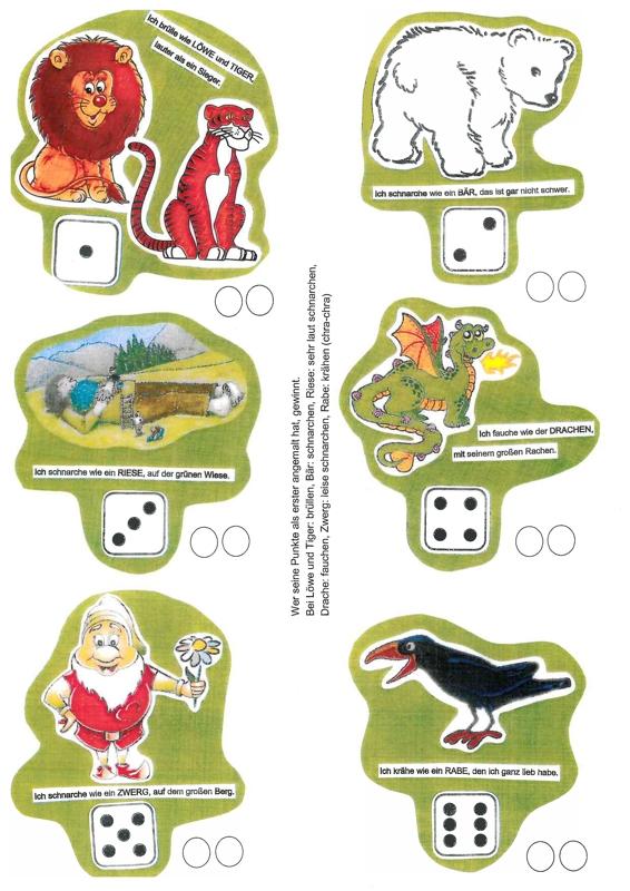 Sammlungen mit Lautfestigungsspiel für k, ch oder r - Dyslalie ...