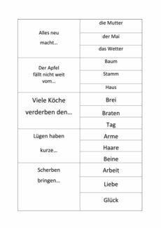 Sprichwörter ergänzen (2)