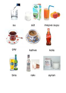 Getränke in türkischer Sprache