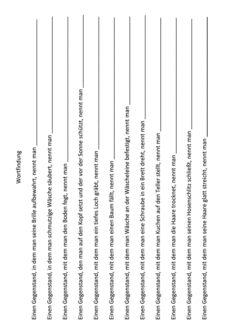Wortfindung durch Satzergänzung (4)