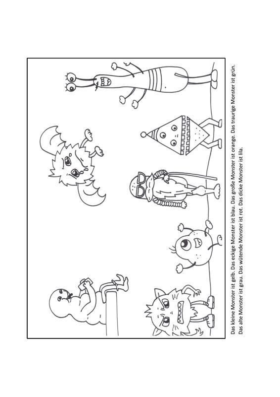 Ausmalbilder Adjektive Ses Madoo Net