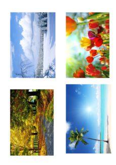 Bild- und Wortkarten Jahreszeiten