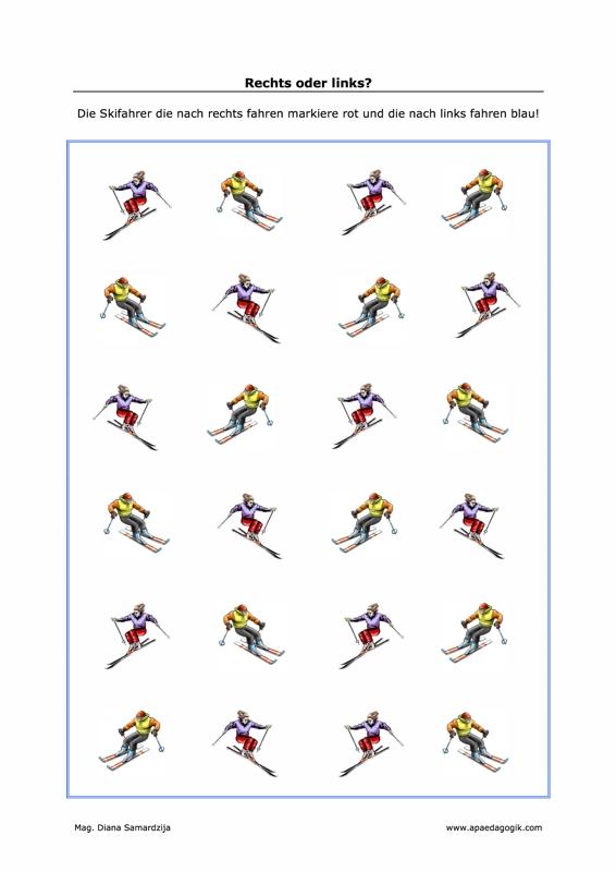 Schifahrer rechts-links