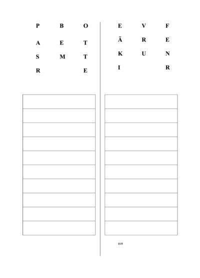 Aphasietherapie: Wörter aus Buchstaben (11)