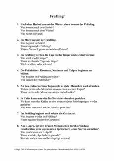 Frühling mit offenen W-Fragen