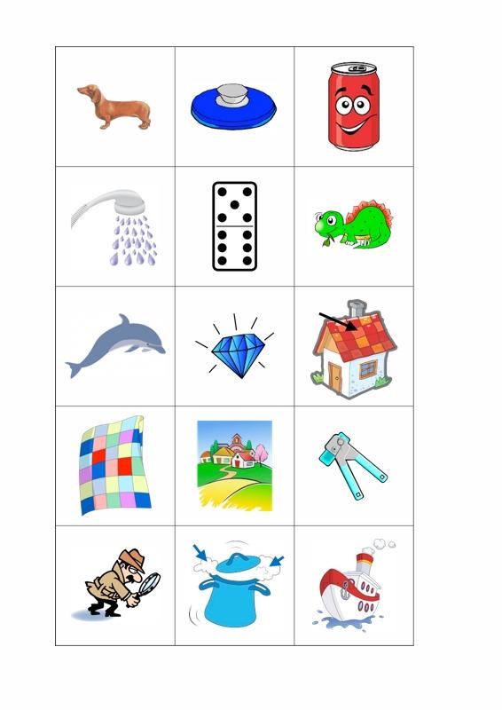 Arbeitsblatt Vorschule was ist ein anlaut zeichnung : Therapiematerial Logopu00e4die Bildkarten D im Anlaut - madoo.net
