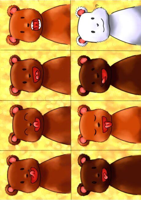 Mundmotorik – Bären-Bildkarten