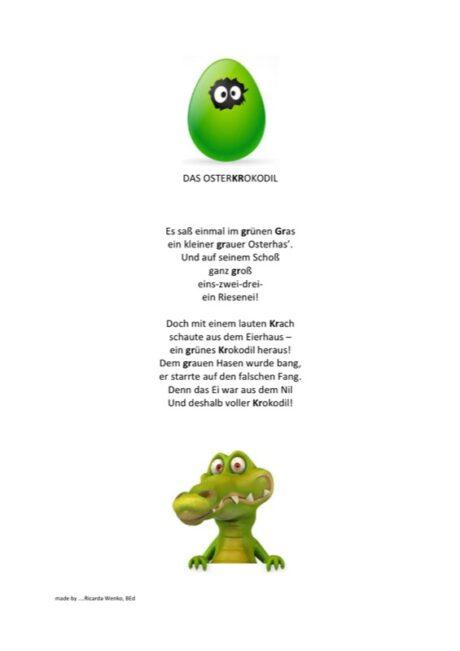 Das Osterkrokodil