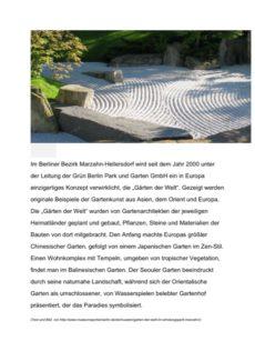 Textarbeit Kontext Gärten