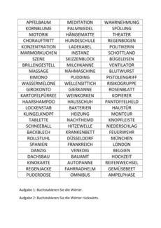 Wortliste zum Buchstabieren