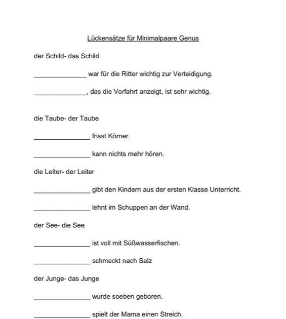 Therapiematerial zum thema minimalpaare seite 3 for Bett in der kindersprache