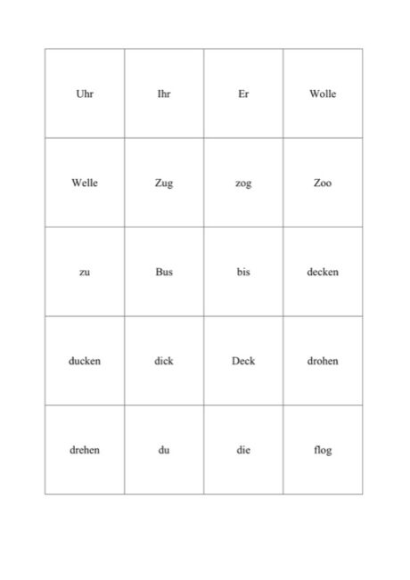 Minimalpaare Vokale
