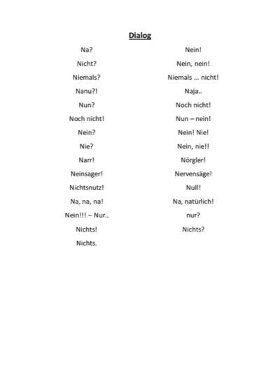 Intonationsübung N-Dialog