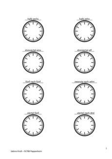 Arbeitsblatt zu Uhrzeiten