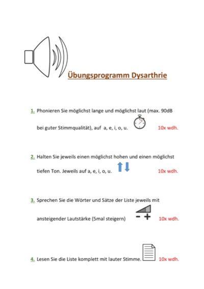 Dysarhtrophonie-Programm bei Parkinson